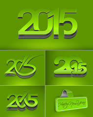 Set of New Year 2015 Text Design