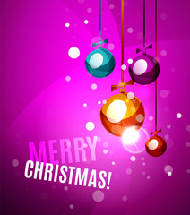Colorful bright shiny Chrismas card