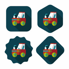 tractor flat icon with long shadow,eps10