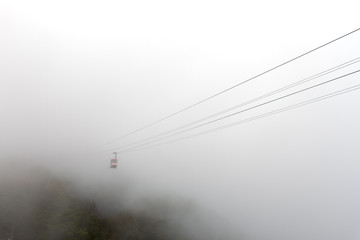 Ropeway in the Mist