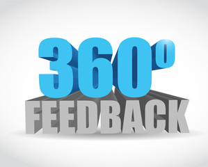360 feedback sign illustration design