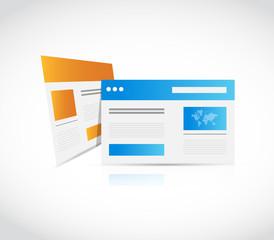web site browser illustration design