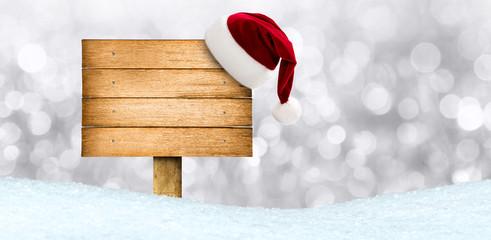 Holzschild zu Weihnachten