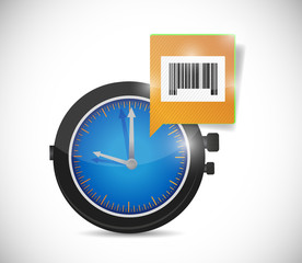 watch message and barcode