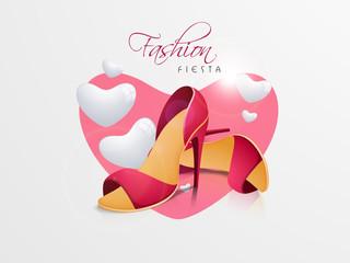 Pink high heel sandals for women.