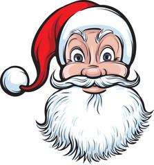 cheerful Santa Claus face