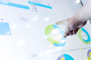 modern business data touch screen