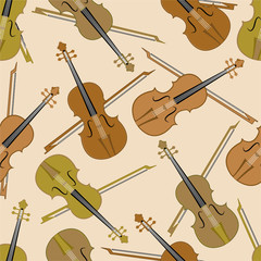 Seamless pattern of musical instrument.