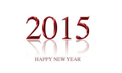 Text 2015 new year design isolated