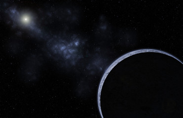 Galaxy planet background