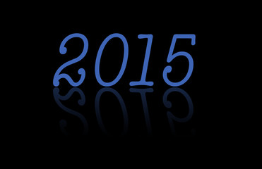 Year 2015 reflection background