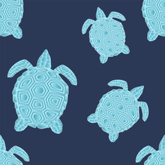 turtle seamless. vector illustration
