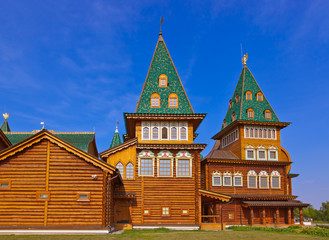 Wooden palace of Tsar Alexey Mikhailovich in Kolomenskoe - Mosco