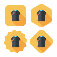 Chinese Cheongsam flat icon with long shadow,eps10