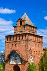 Tower of Kolomna Kremlin in Moscow region - Russia