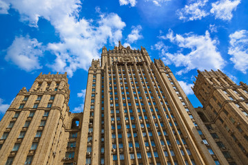 Stalin's famous skyscraper Ministry of Foreign Affairs of Russia