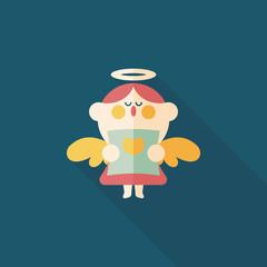 Wedding angel choir flat icon with long shadow,eps10