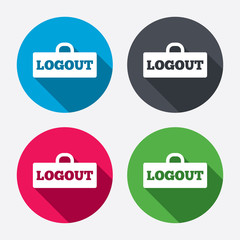 Logout sign icon. Log out symbol. Lock.