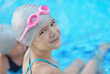 Fototapety child portrait on swimming pool