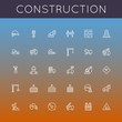 Vector Construction Line Icons