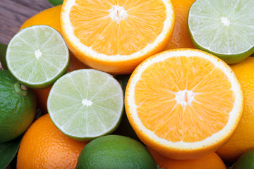 Mix of fresh citrus fruits.