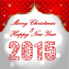Happy New Year 2015, christmas celebration concept