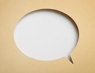 Blank paper speech bubble