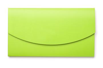 Green plastic folder