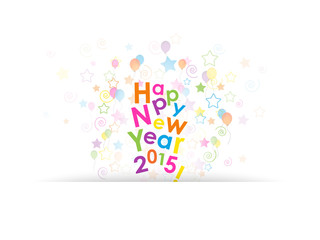 HAPPY NEW YEAR Card (letters words 2015)
