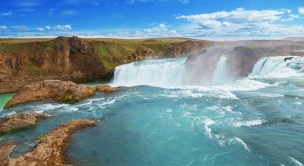 Godafoss, Godafoss, Götterwasserfall, Wasserfall
