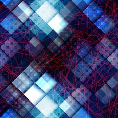 Abstract geometric blue pixels pattern.