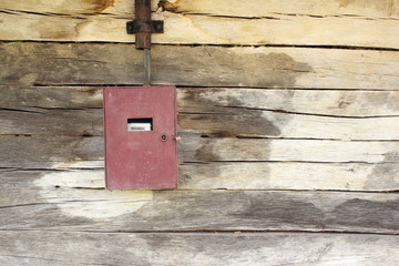 electric panel on wooden building