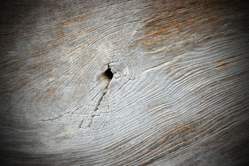 knot on old oak wood