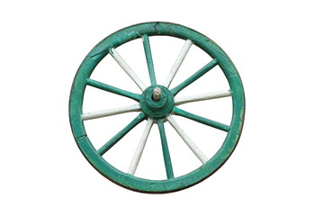 traditional cart wooden wheel