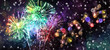 canvas print picture - Silvester Feuerwerk