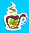 stylized tea cup