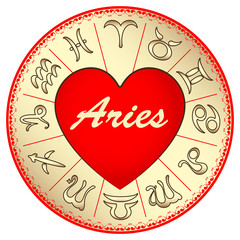 zodiac sign Aries, for lovers on Valentine's day