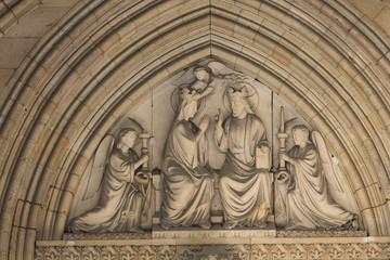 Paris -  Mary's coronation, Tympanum of the Sainte Chapelle