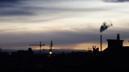 Urban Silhouette of Vienna Ottakring