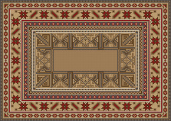 luxurious oriental rug with original pattern