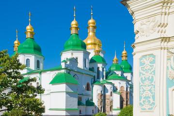 Saint Sophia Cathedral in Kiev in the spring