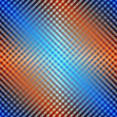 Diagonal plaid with transparency effect.