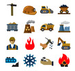 coal mining industry icons - 74766062