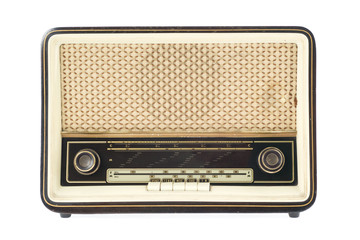 Vintage Radio isolated on white