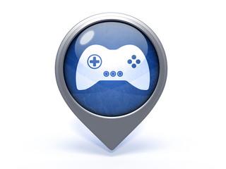game circular icon on white background