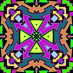 Colorfull Arrows Abstract Pattern