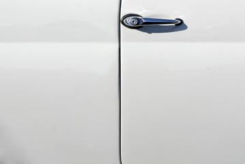 maniglia portiera bianca automobile vintage, sfondo