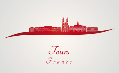 Tours skyline in red