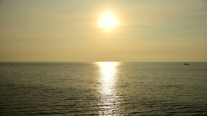 Time lapse of Sunrise at sea, Rayong, Thailand