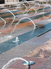 Water Spouts in Tile Fountain